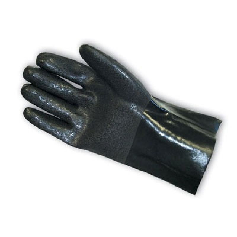 Sandy Finish Interlock Lined PVC Gloves