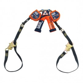 3M™ DBI-SALA® Nano-Lok™ edge Twin-Leg Tie-Back Quick Connect Self Retracting Lifeline - Cable 3500228, Orange, 9 ft. (2.7 m)