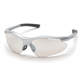 Pyramex  Fortress  Silver Frame/Indoor/Outdoor Mirror Lens  Safety Glasses  12/BX