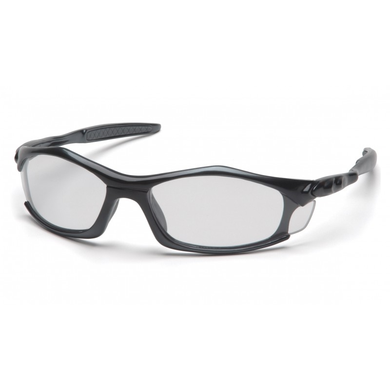 Pyramex Safety - Solara - Black Frame/Clear Lens Polycarbonate Safety Glasses - 12 / BX