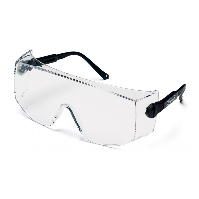 Pyramex Safety - Defiant - Black Temples/Clear Lens-Over Prescription - Jumbo Polycarbonate Safety Glasses - 12 / BX
