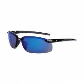 Radians ES5 Blue Mirror Black Safety Glasses 12 PR/Box