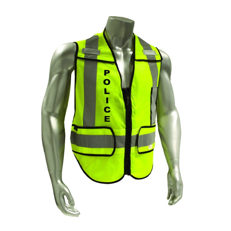 Smith & Wesson Zip-N-Rip ANSI Safety Vest - POLICE-BK logo