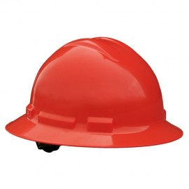 Radians Quartz 4 Point Pinlock Suspension Full Brim Hard Hats  Red Color  (1 Each)