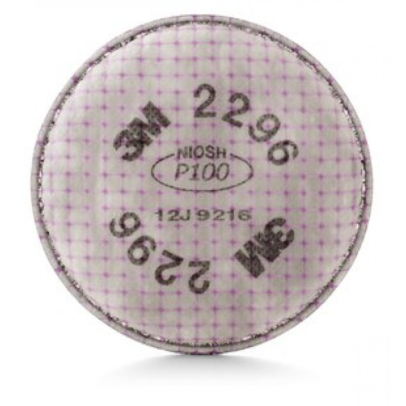 3M™ Advanced Particulate Filter 2296, P100, with Nuisance Level Acid Gas Relief (1 Pair)
