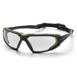 Pyramex  Highlander  BlackLime Frame/Clear AntiFog Lens  Safety Glasses  12/BX