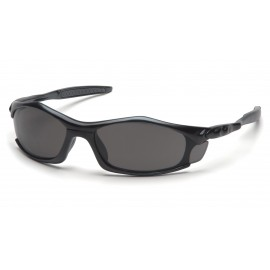 Pyramex Safety - Solara - Black Frame/Gray Lens Polycarbonate Safety Glasses - 12 / BX