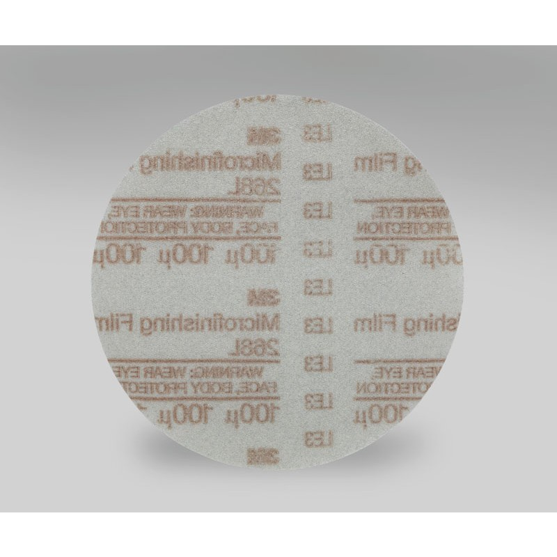3M™ Hookit™ Microfinishing Film Disc 268L, Type D, 6 in x NH 100 Micron, 500 per case