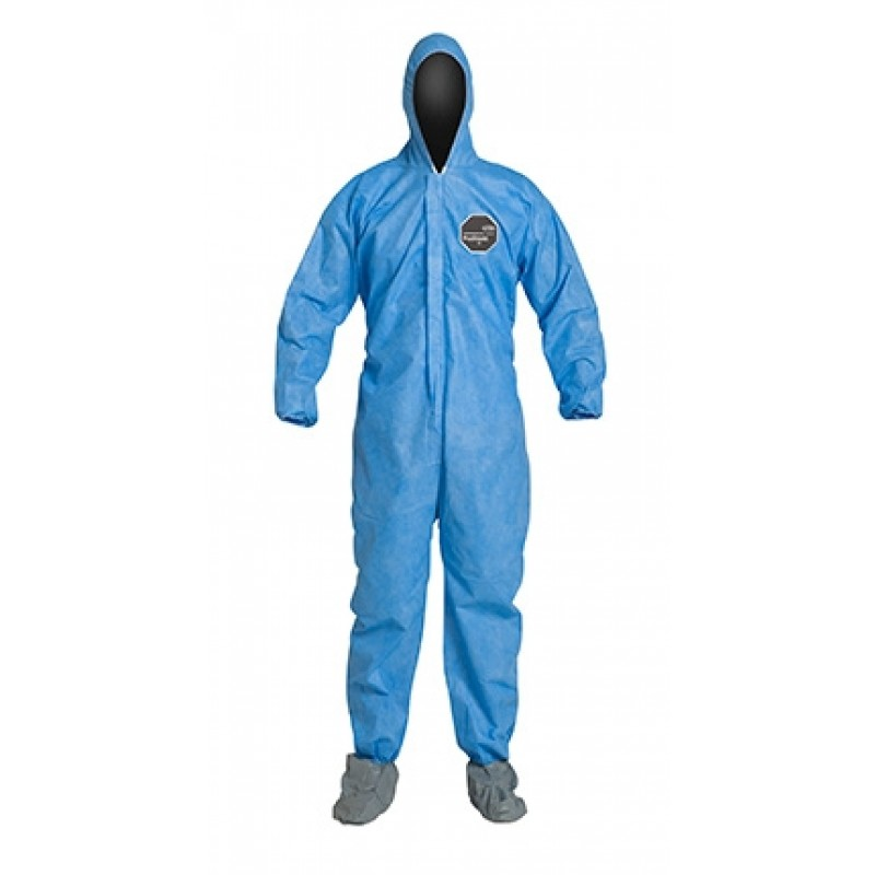 DuPont™ Proshield 10 PB122SBU Coverall with Attached Boots Blue Color (25 Per Case)