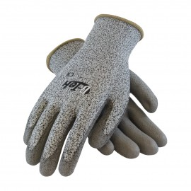 PIP 16-530/S G-Tek Seamless Knit PolyKor Blended Glove with Polyurethane Coated Smooth Grip on Palm & Fingers Small 6 DZ