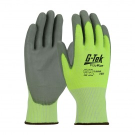 PIP 16-645LG/L G-Tek Seamless Knit PolyKor Blended Glove with Polyurethane Coated Smooth Grip on Palm & Fingers Large 6 DZ