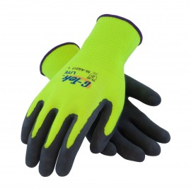 G-Tek Lite High Visibility Nylon Shell with Latex Coated MicroFinish Grip (12 Pairs)