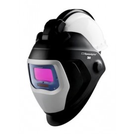 3M™ Speedglas™ Welding Helmet 9100 QR, 06-0100-10QR, with Auto-Darkening Filter 9100V and Hardhat H-701R