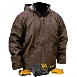 DEWALT® DCHJ076ATD1 Unisex Heated Heavy Duty Work Coat With Battery