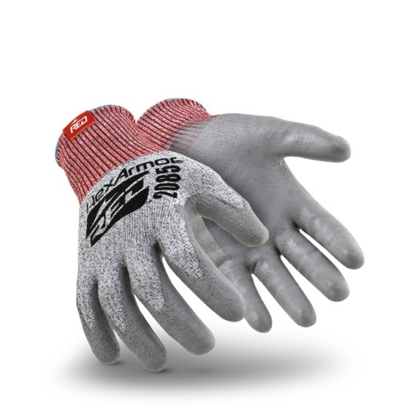 HexArmor 2000 Series 2085 Work Gloves Gray Color - 1 Pair