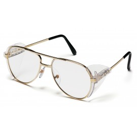 Pyramex  Pathfinder  Gold Metal Frame/Clear Lens  Safety Glasses  12/BX