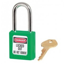 Masterlock Xenoy 410 Green Safety Padlocks - Keyed Alike