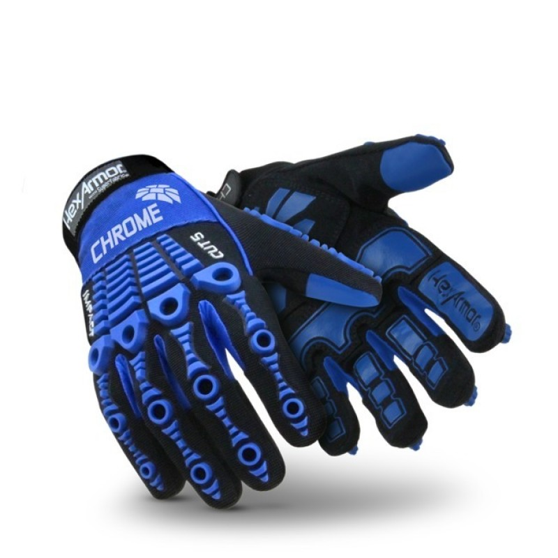 HexArmor Chrome Series 4024 Gloves Blue Color - 1 Pair