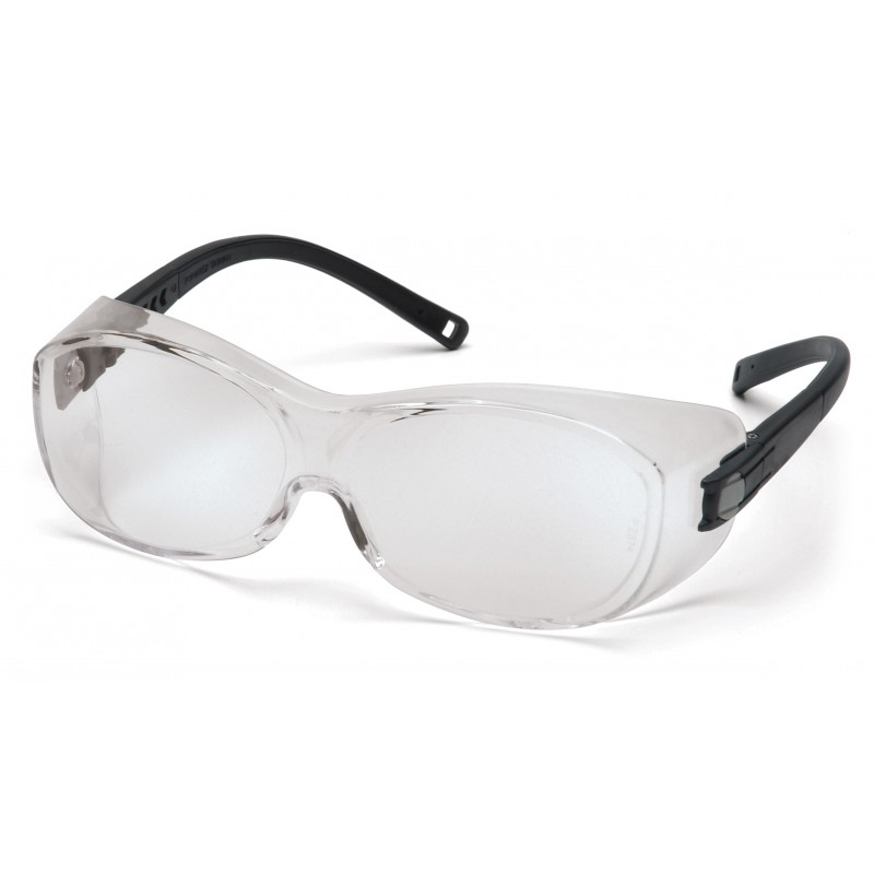 Pyramex Safety - OTS - Black Frame/Clear Anti-Fog Lens Polycarbonate Safety Glasses - 12 / BX