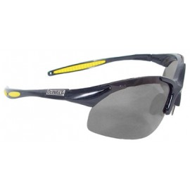 GRP Safety Glasses with Black Frame and  Smoke Polarized Lens