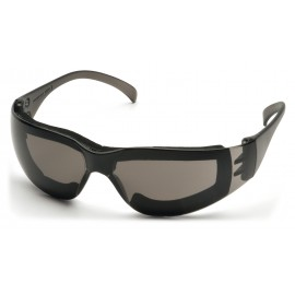 Pyramex  Intruder  Gray Frame Full Foam Padding/GrayHardcoated AF Lens  Safety Glasses  12/BX