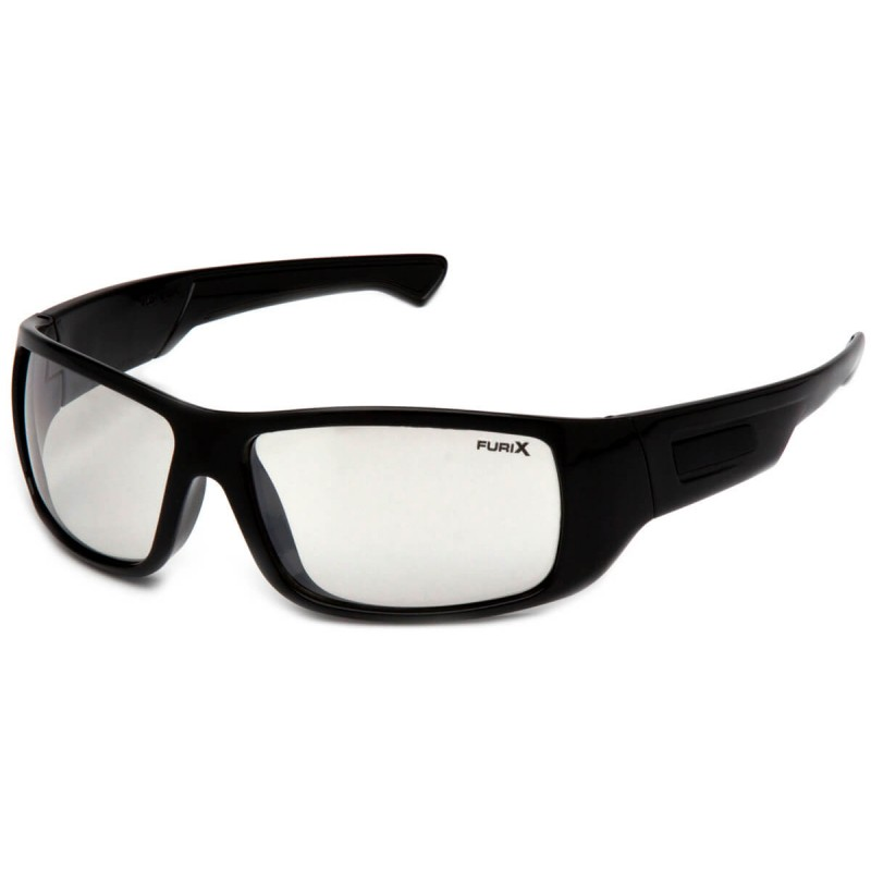 Pyramex Safety - Furix - Black Frame/Indoor Outdoor Mirror Anti-Fog Polycarbonate Safety Glasses - 12 / BX