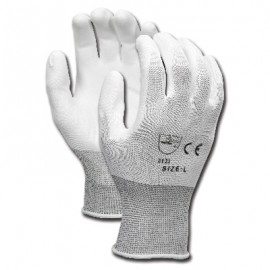 MCR White Nylon Glove with Polyurethane Coating (12 PR)
