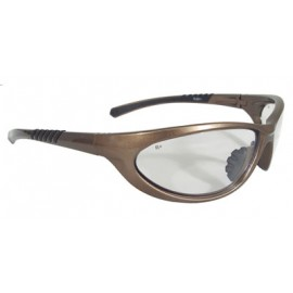 Radians Paradox Safety Glasses Mocha Frame Clear Lens 12/Pairs