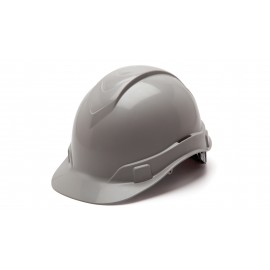 Pyramex Ridgeline Cap Style Hard Hat 4-Point Standard Ratchet Gray Color - 16 per Case