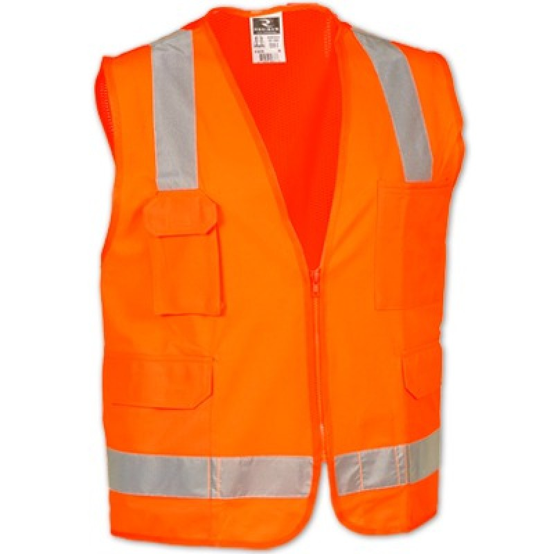 Radians SV7 Safety Vest - Class 2 - Surveyor - Solid Front Mesh Back (1 EA)