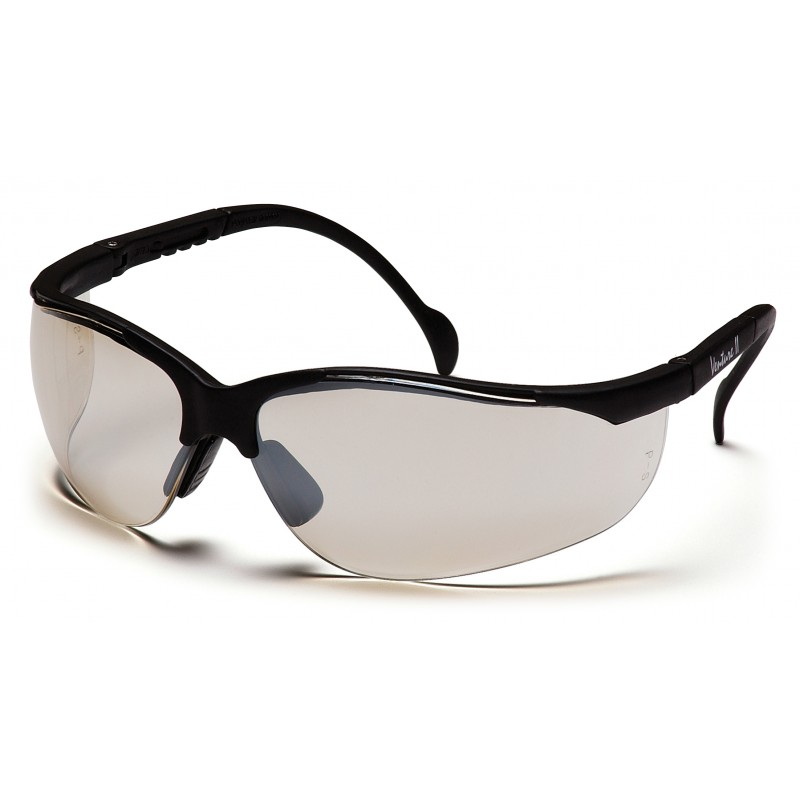 Pyramex Safety - Venture II - Black Frame/Indoor/Outdoor Mirror Anti-Fog Lens Polycarbonate Safety Glasses - 12 / BX