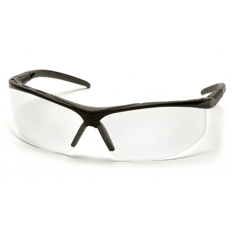 Pyramex Safety - Pacifica - Black Frame/Clear Lens Polycarbonate Safety Glasses - 12 / BX