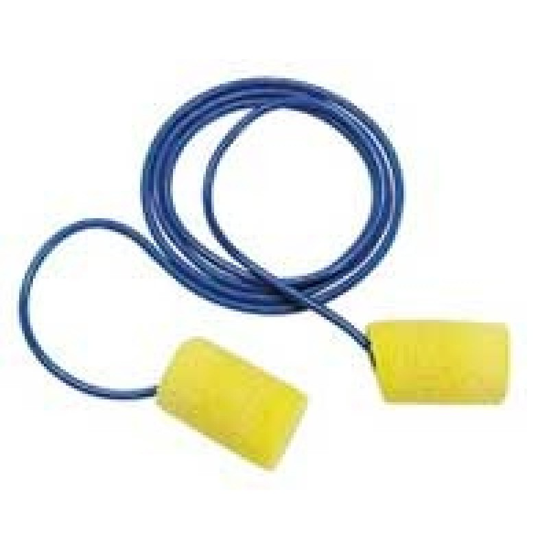 3M E-A-R Classic 311-4101 Corded Earplugs, Metal Detectable (200 Pair)