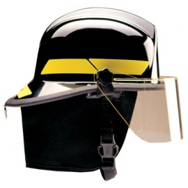 Bullard Thermoplastic Fire Helmet with TrakLite Helmet Lighting System