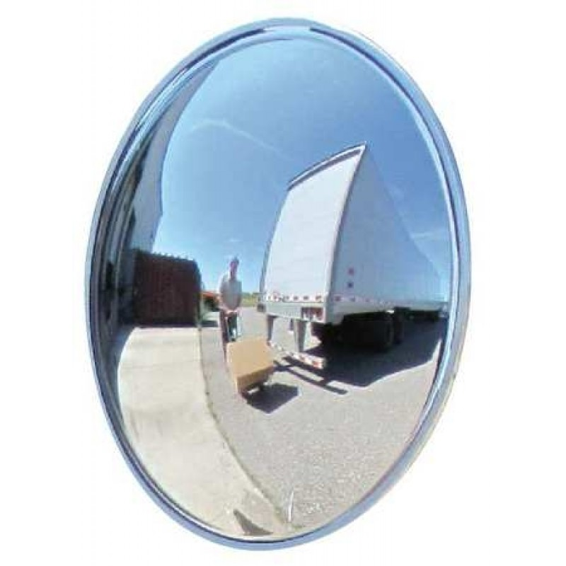 "Domes and Mirrors by Se-Kure TCVO-24T-5DP-PB 24""  Outdoor Wide View Convex Mirror 5"" Deep"
