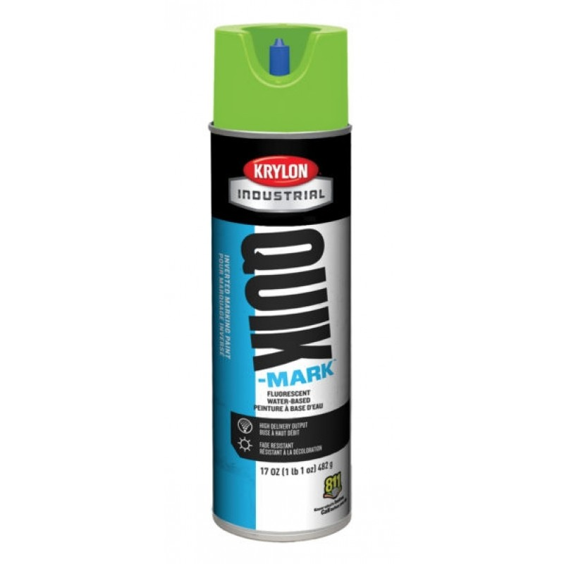 Krylon QUIK MARK Brilliant White Water based Inverted Marking Paints 17 oz. 12 Cans