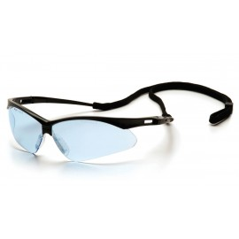 Pyramex Safety - PMXTREME - Black Frame/Infinity Blue Lens with Black Cord Polycarbonate Safety Glasses - 12 / BX
