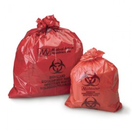 Red Biohazard Bag, 31x41 1.2mil 30 gallon