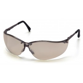Pyramex Safety - V2-Metal - Gun Metal Frame/Indoor/Outdoor Mirror Lens Polycarbonate Safety Glasses - 12 / BX