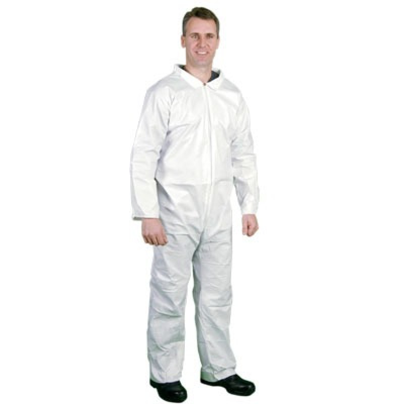 Lakeland MicroMax Coveralls with Open Wrists and Ankles White Color (1 Each)