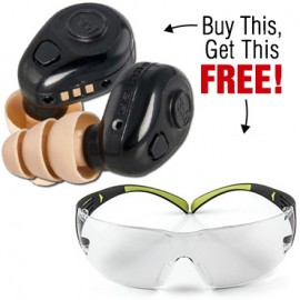 Buy Peltor Tactical Earplug Kit and get a Free pair of Secure Fit Safety Glasses