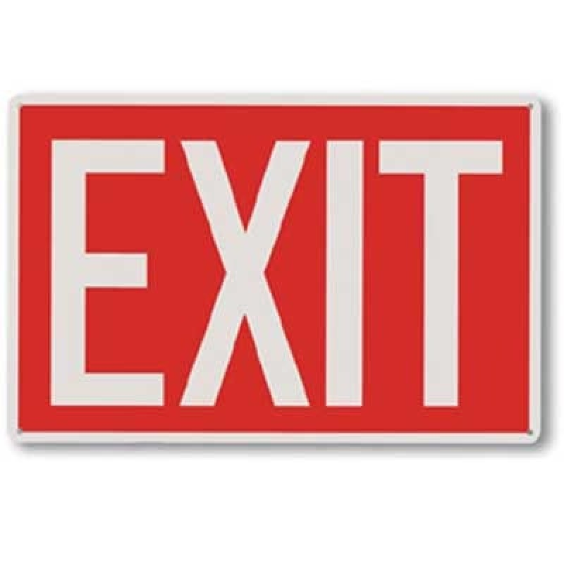 Brooks Aluminum Exit Sign
