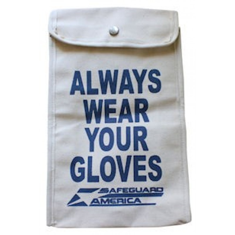 """15"""" Canvas Glove Bag - for Rubber Insulated Gloves"""