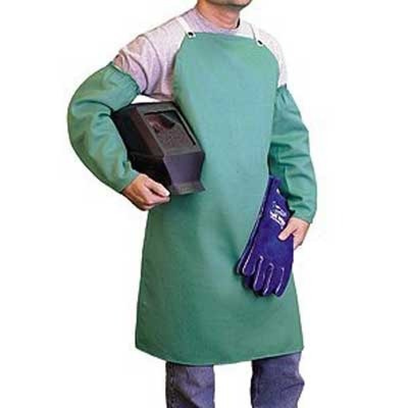 MCR FR Cotton Bib Apron Blue Color 12/Aprons