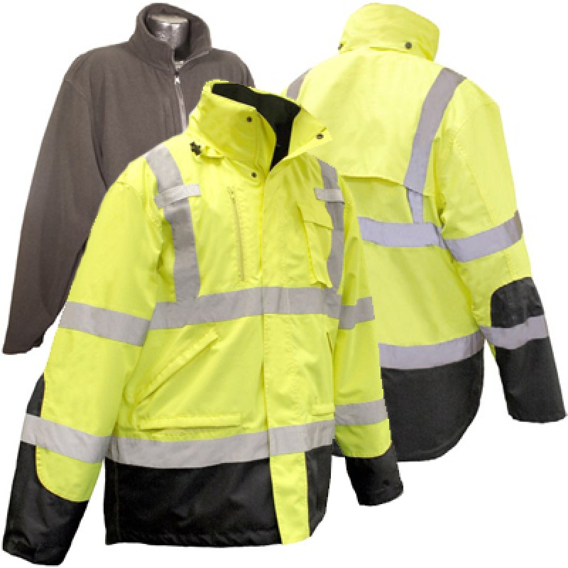 Radians 3-in-1 High Visibility Weatherproof Parka
