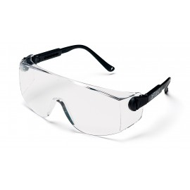 Pyramex  Defiant  Black Temples/Clear Lens  Safety Glasses  12/BX