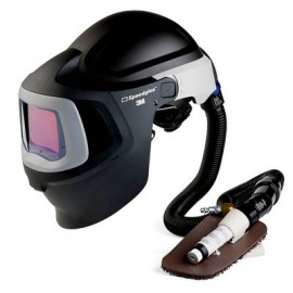 3M™ Speedglas™ Fresh-Air III Supplied Air System with V-100 Vortex Air-Cooling Valve and 3M™ Speedglas™ Welding Helmet 9100MP, 27-5702-30SW, with Hard Hat, SideWindows and Auto-Darkening Filter 9100XX, Shades 5, 8-13