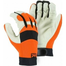 Majestic 2152HV Bald Eagle Hi Vis Orange Gloves 12 Pairs
