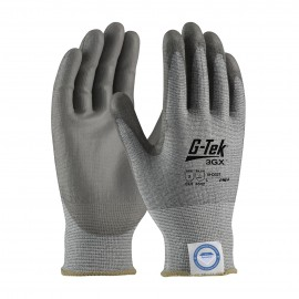 PIP 19-D327/XS G-Tek Seamless Knit Dyneema Diamond Blended Glove with Polyurethane Coated Smooth Grip on Palm & Fingers XS 6 DZ