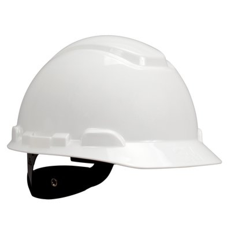 3M™ Hard Hat with Uvicator H-701R-UV, White, 4-Point Ratchet Suspension (Case of 20)